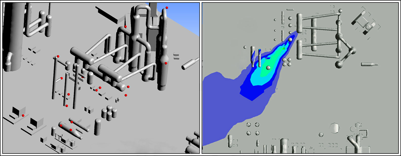 ONSHORE FACILITIES_CFD MODELING_RISK AND CONSEQUENCE ANALYSIS _GAS DETECTOR LAYOUT OPTIMIZATION